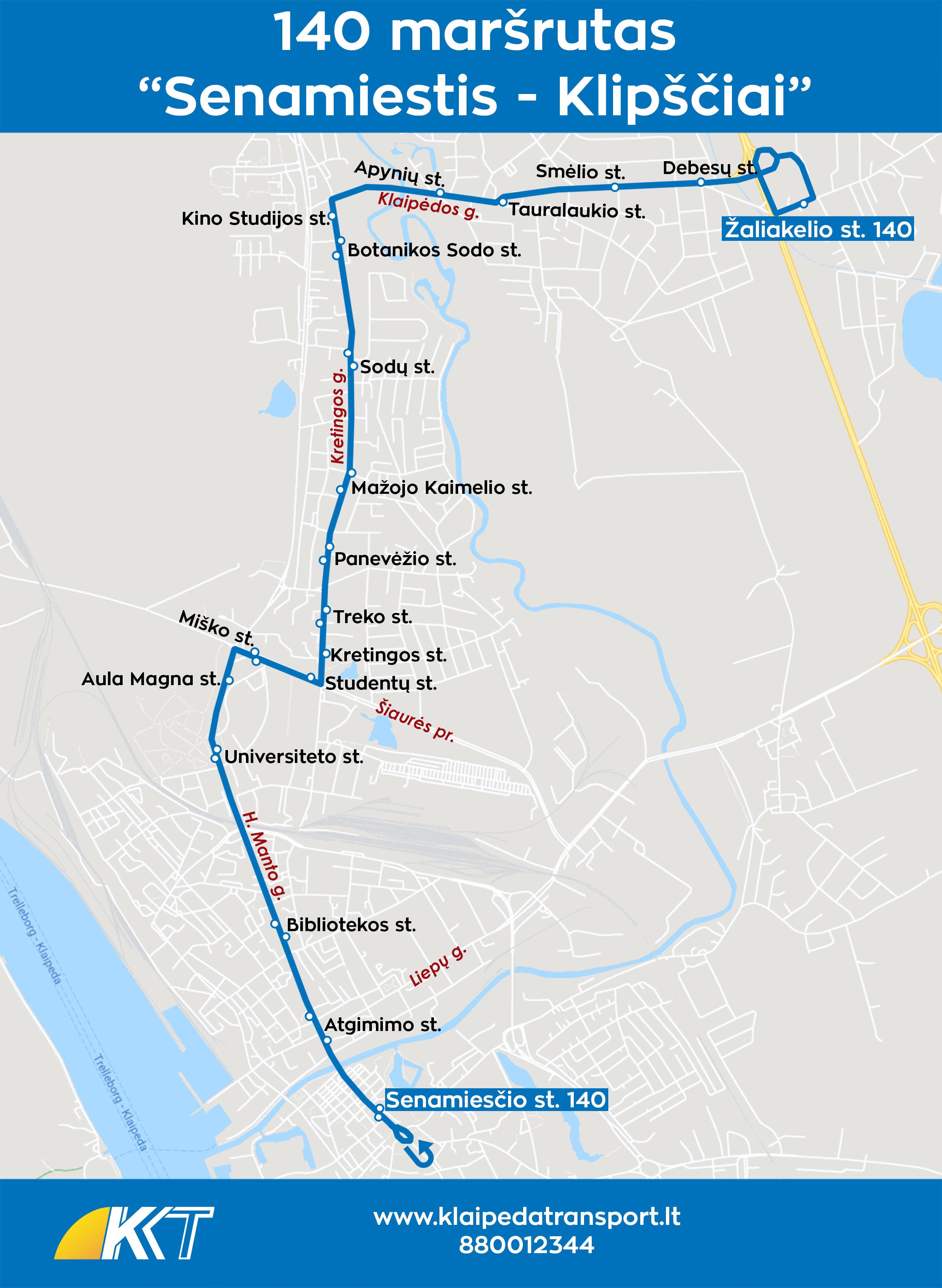 140 maršrutas Senamiestis - Klipščiai